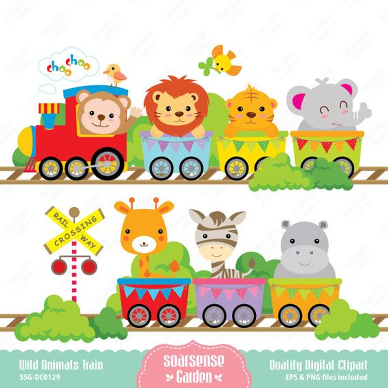 Baby Animal clipart train  for Animals_ Animals_ Personal
