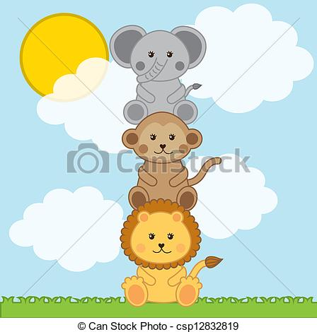Baby Animal clipart vector art Baby Vector of with animals