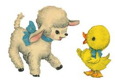 Baby Animal clipart vintage Via Rushton by doll Free