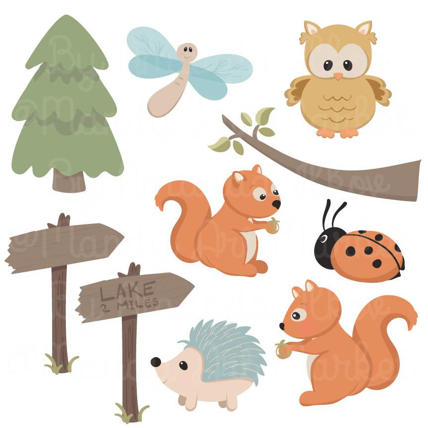 Baby Animal clipart vintage Woodland animal Vintage clipart woodland