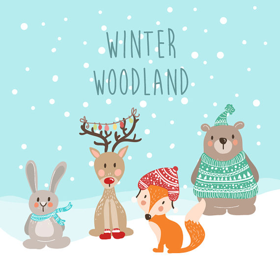 Winter clipart winter animal Winter Art Free png Free