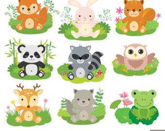 Baby Animal clipart woodland creature Clipart / Animal Digital Animals