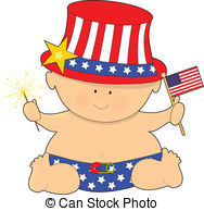 Baby clipart 4th july  July  Illustrations July