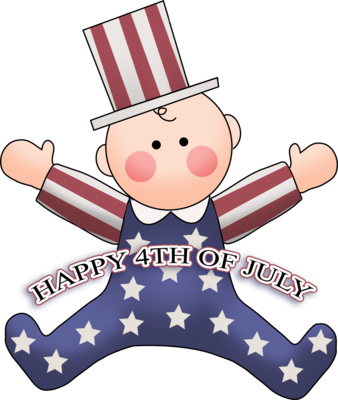 Baby clipart 4th july 4th Clip Christart of 4th