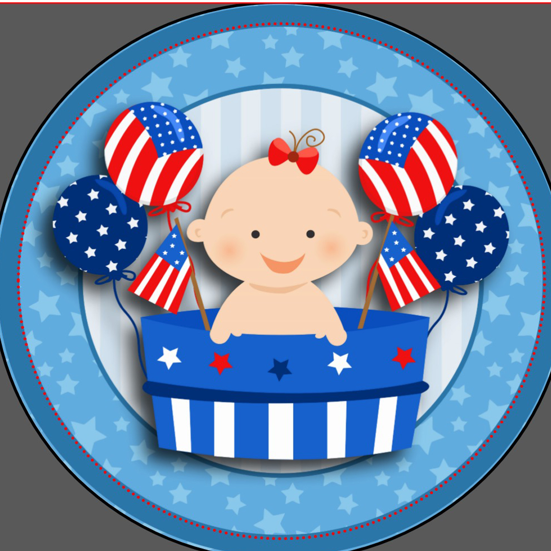 Baby clipart 4th july Baby Fourth Shower shower July