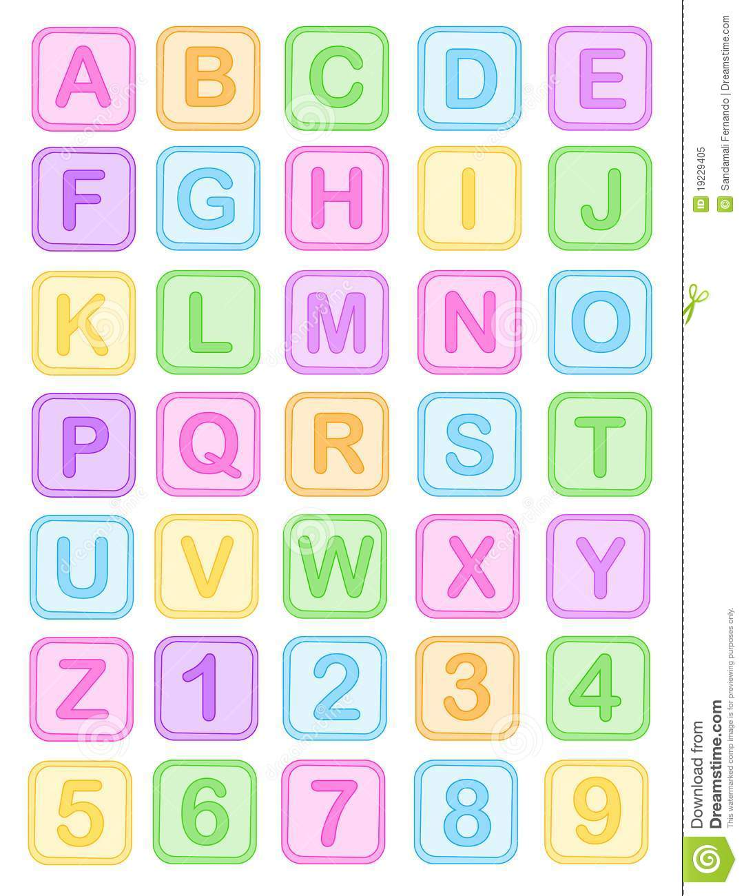 Baby clipart alphabet Block letters clipart collection Royalty