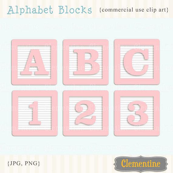 Baby clipart alphabet Baby blocks clip alphabet blocks