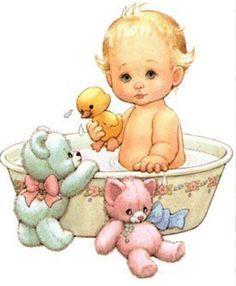 Baby clipart bathtime BATHING дождя Леди «baby TUB