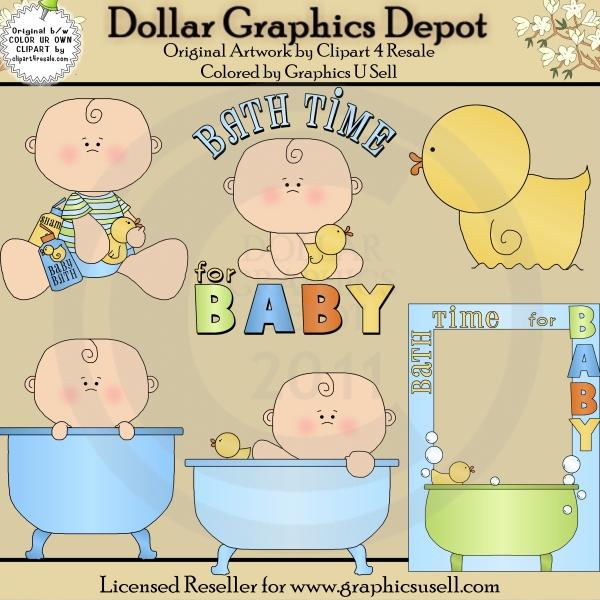 Baby clipart bathtime Bath 1 Boy 00 Graphics