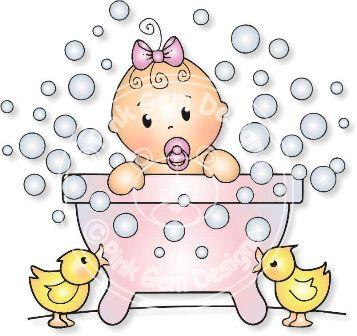 Baby clipart bathtime Free Digi Baby Free Bathtime