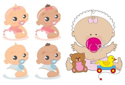 Baby clipart cute baby Cute collection cute babies Vectors: