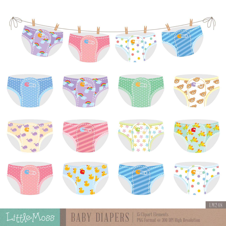 Baby clipart diaper  art Baby cliparts diaper