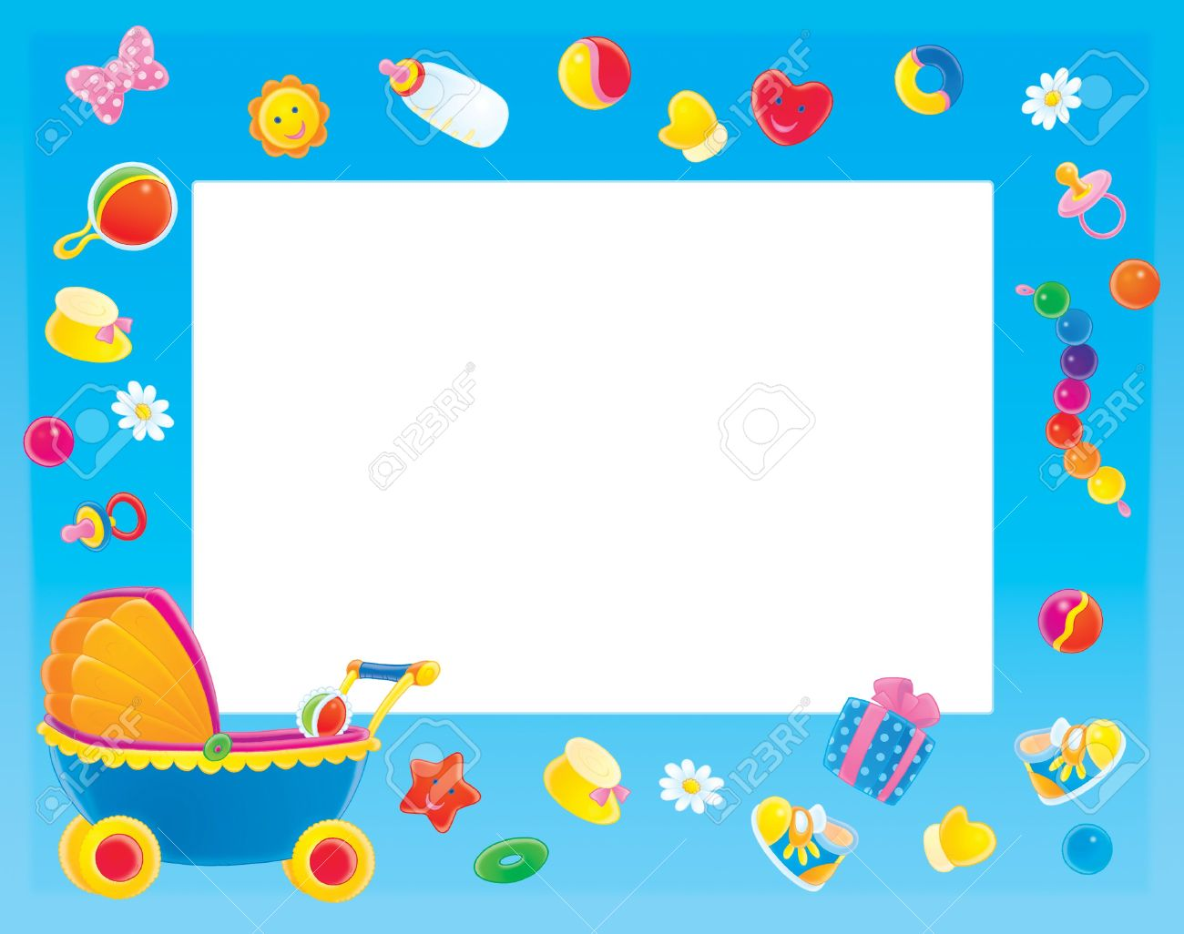 Baby clipart frame Clipart Border clip Shower coolclipart