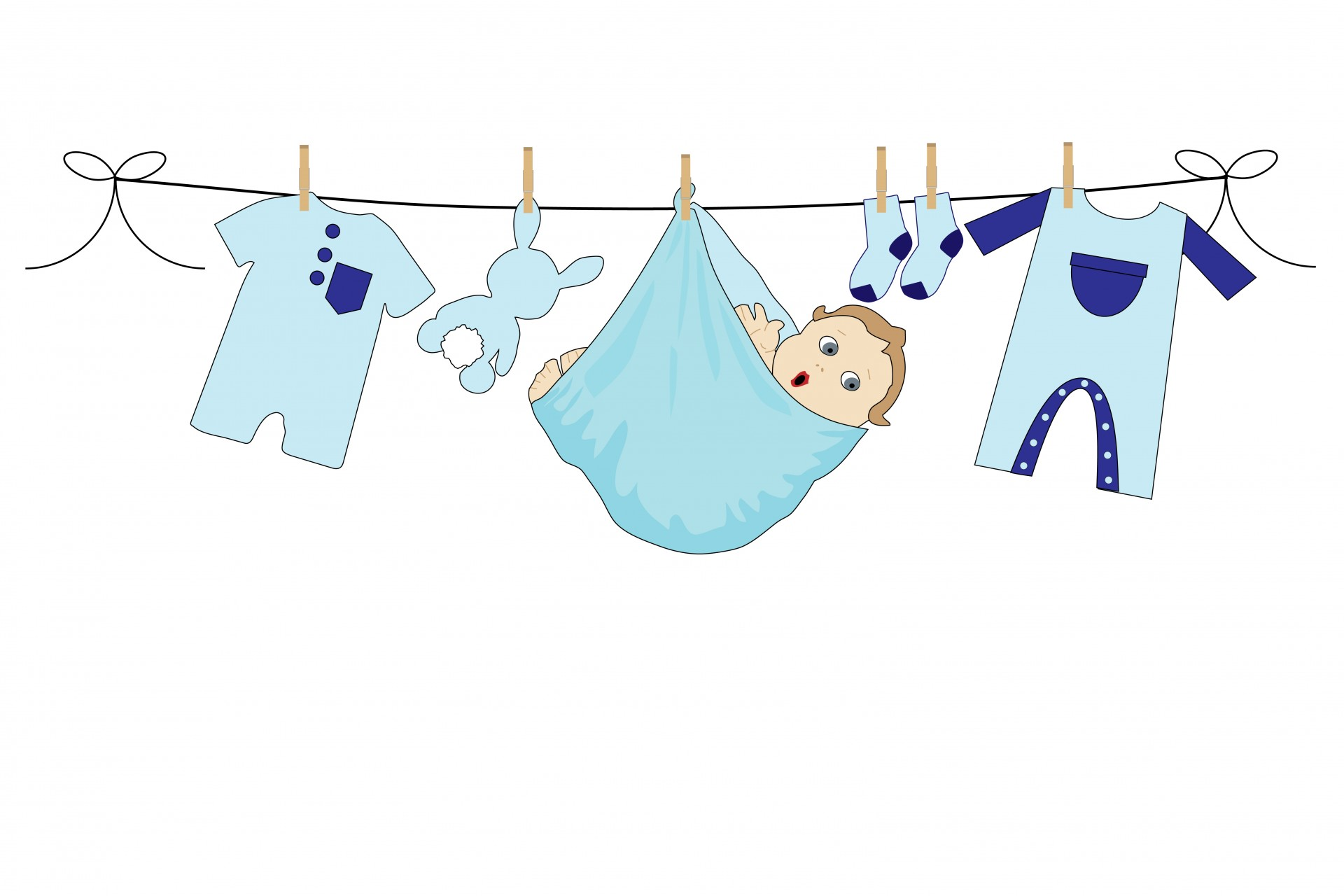 Baby clipart laundry line Page Baby Line Clothes Domain