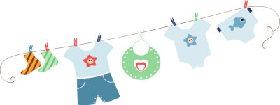 Baby clipart laundry line On Insert Clothes Art Tags