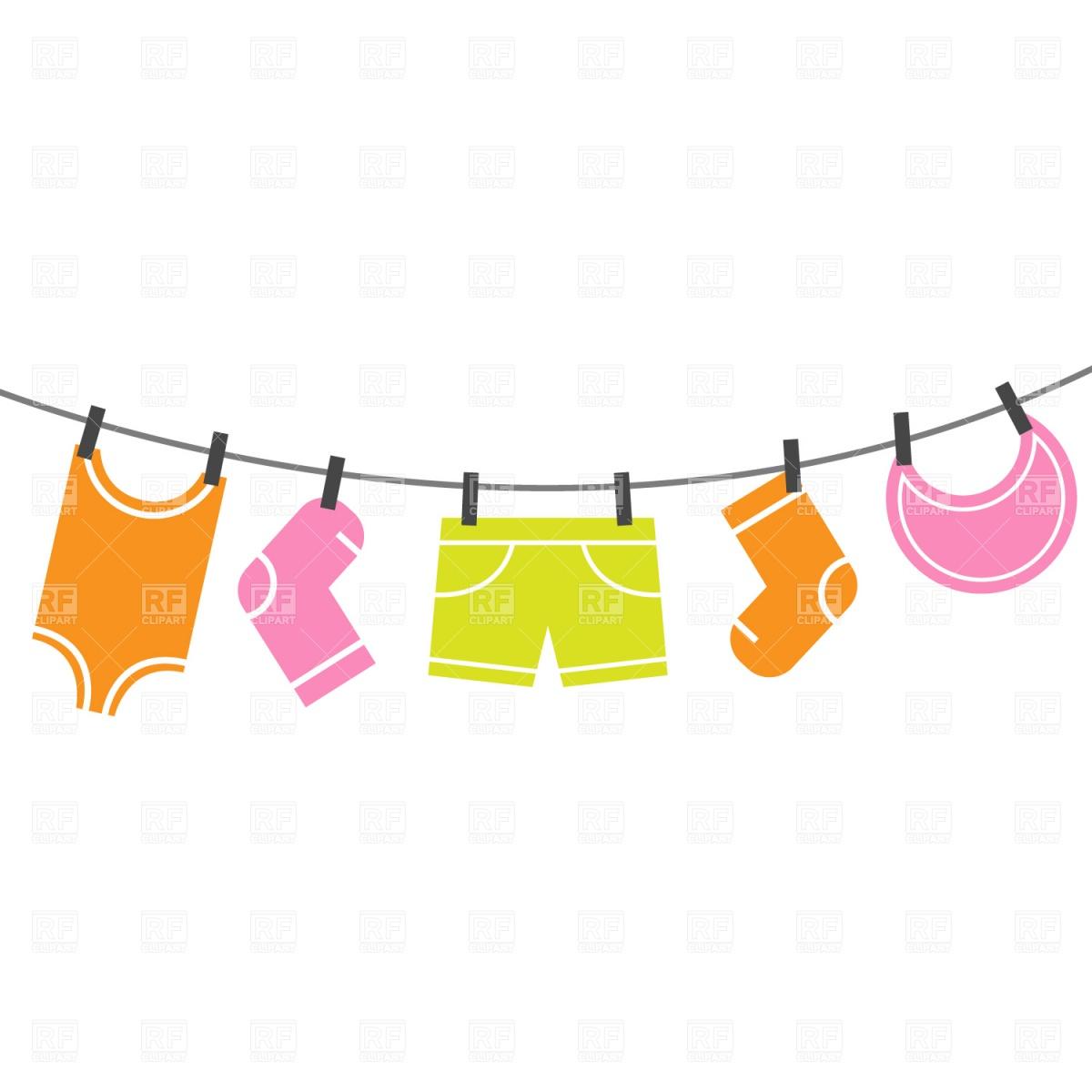 Baby clipart laundry line  Clip line Clothes clip