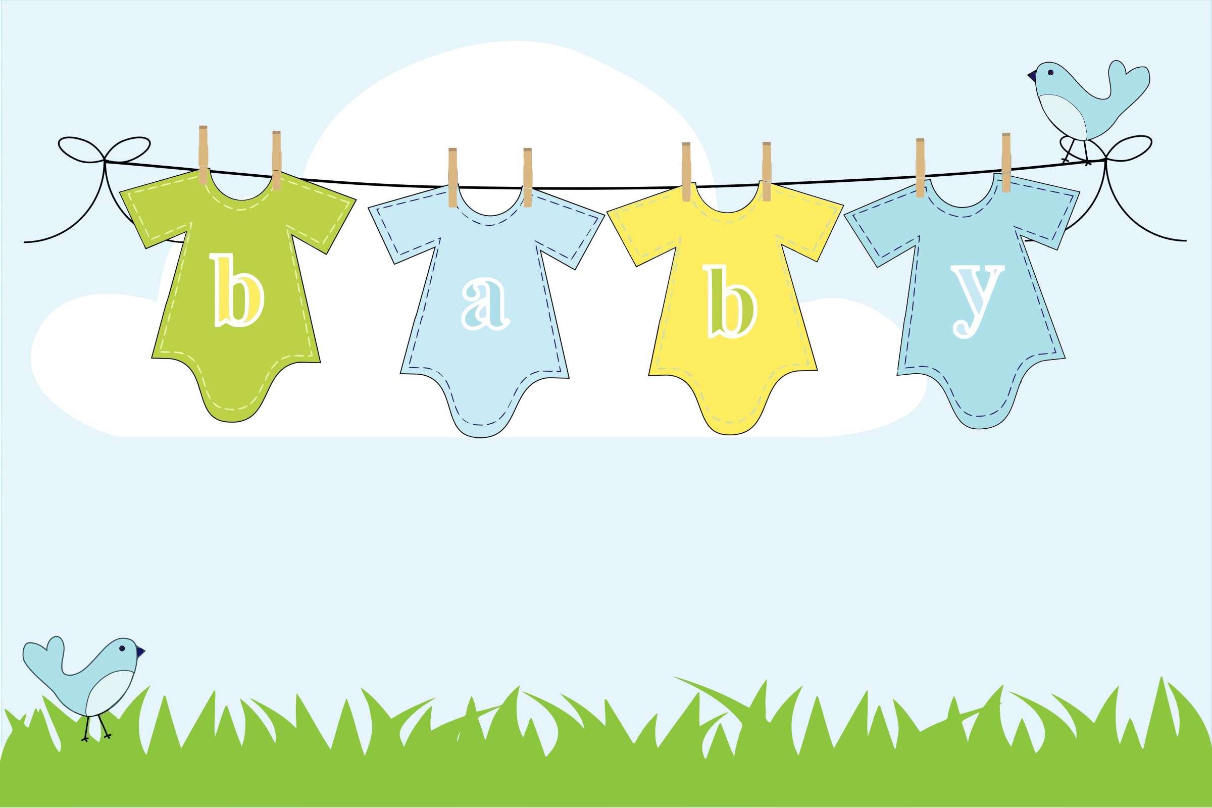 Baby clipart laundry line Baby On Hanging Baby collection