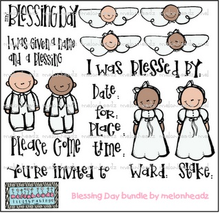 Baby clipart lds Melonheadz by on blessing bundle