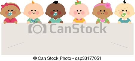 Baby clipart multicultural Babies of Clipart happy