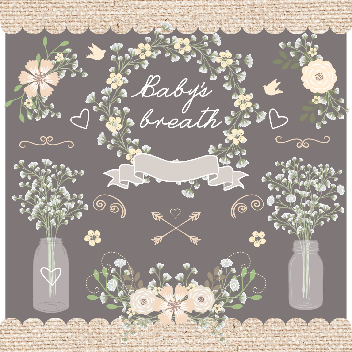 Baby's Breath clipart This baby's jar wedding clipart