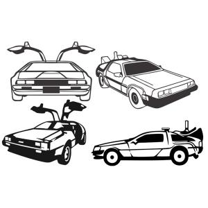 Delorean clipart Delorean Future  Design File