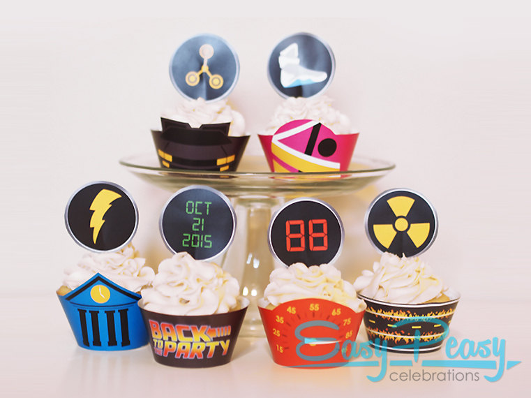 Back To The Future clipart 80's Cupcake Back 80s Set (Inspired)