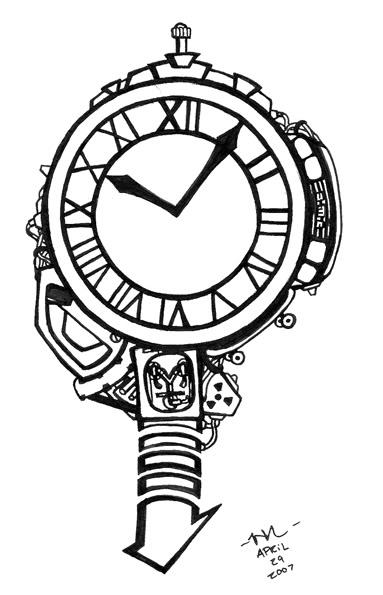 Back To The Future clipart black and white  Ideas Future idea Tattoo