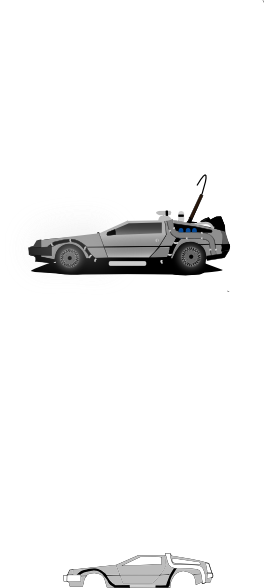 Back To The Future clipart delorean Vector image online as: Download