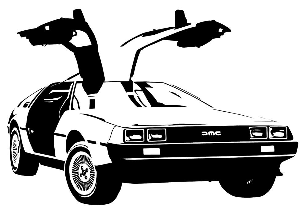 Back To The Future clipart delorean Car Back To Condensador Delorean