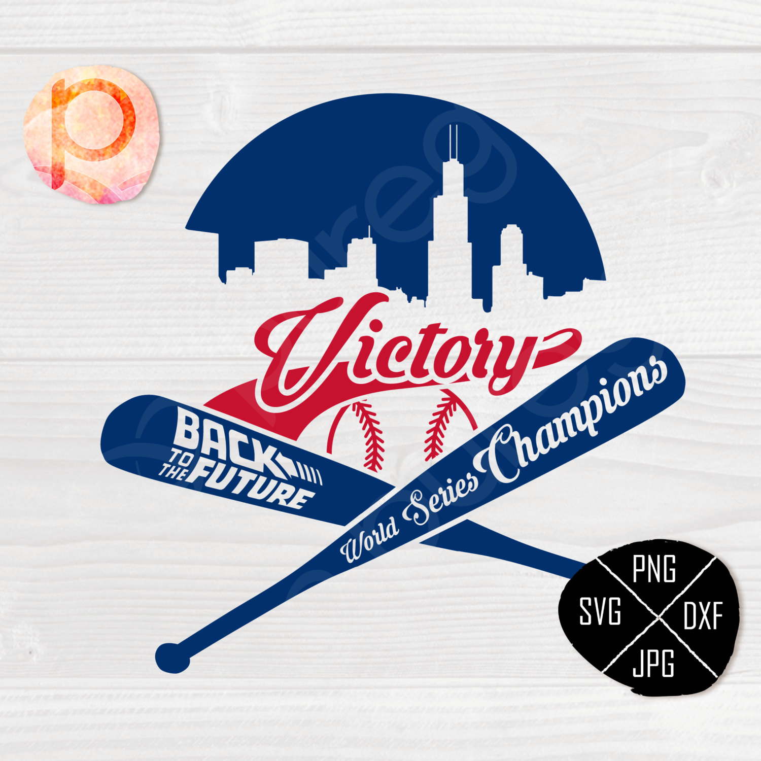 Back To The Future clipart logo A future Champions World Cubs
