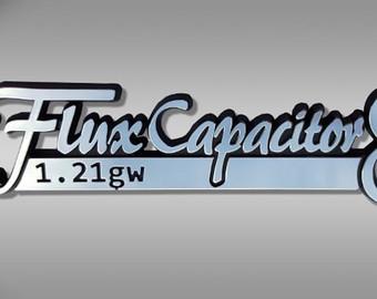 Back To The Future clipart logo Emblem Chrome future Capacitor /