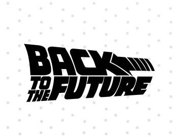 Back To The Future clipart logo Future Future to Cricut Clipart