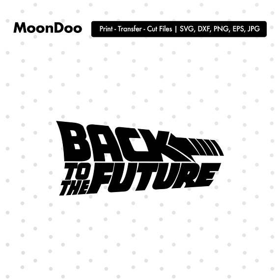 Back To The Future clipart logo Silhouette Future The Future Back