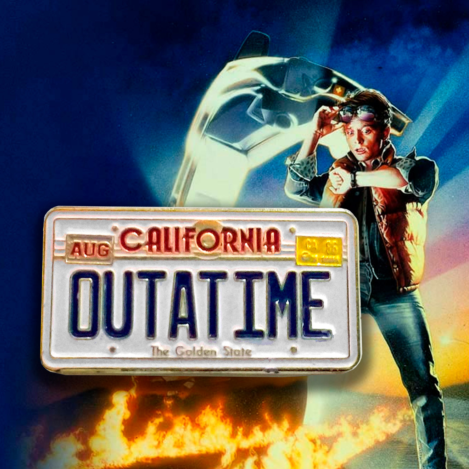 Back To The Future clipart outatime Plate the delorean Database Image