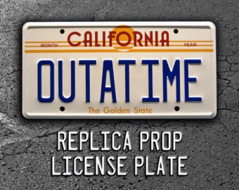 Back To The Future clipart outatime Etsy *Metal License Future Time