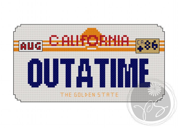 Back To The Future clipart outatime Images Pattern) 309 Future Cross