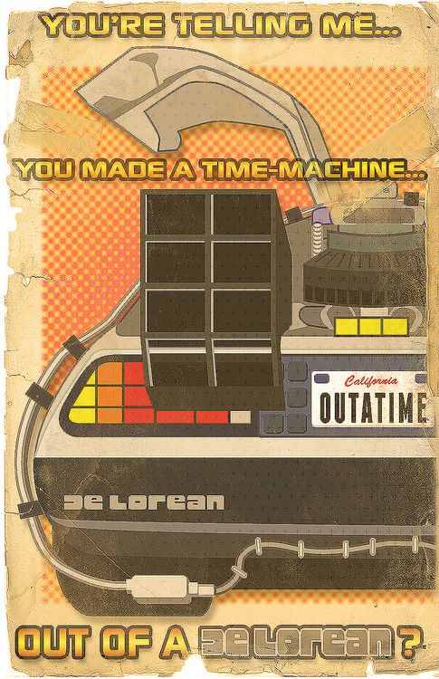 Back To The Future clipart outatime