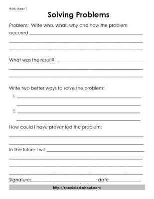 Back To The Future clipart problem solving skill Problem Sheets 3 SLP Rules