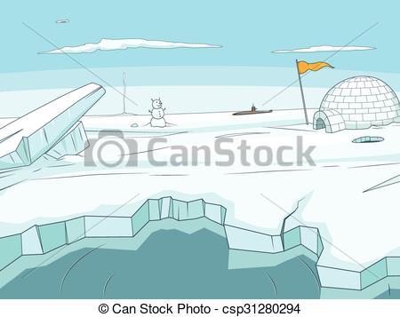 Background clipart arctic  Arctic csp31280294 EPS vector