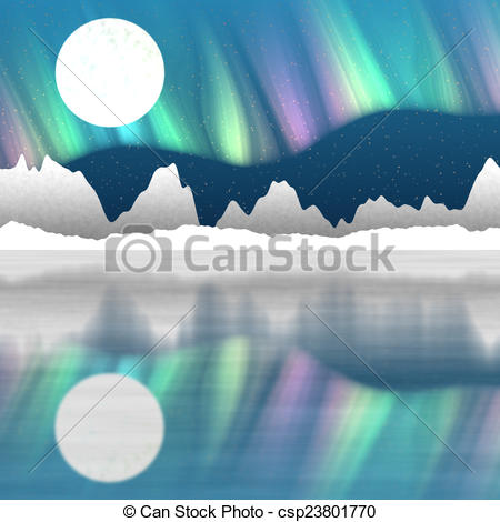 Background clipart arctic Hires landscape hires background generated
