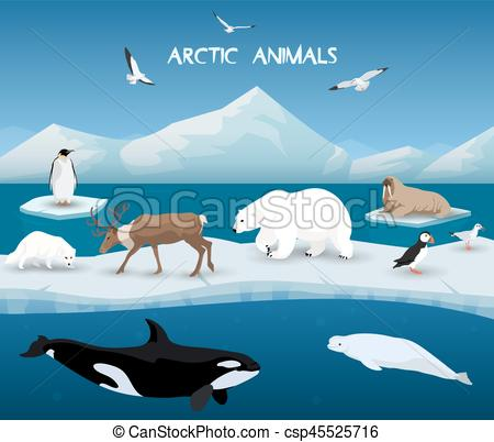 Background clipart arctic Winter Background of Character Clip