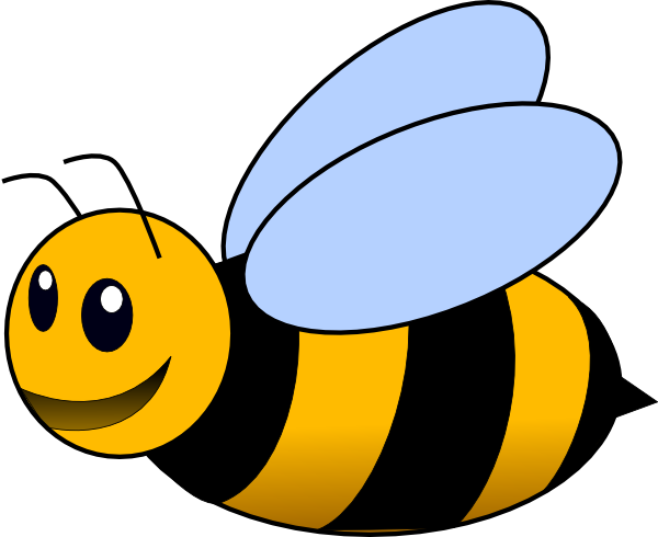 Background clipart bee As:  Clker Download Art