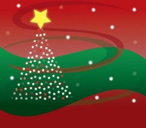 Tree Christmas Christmas Snowflakes Clip