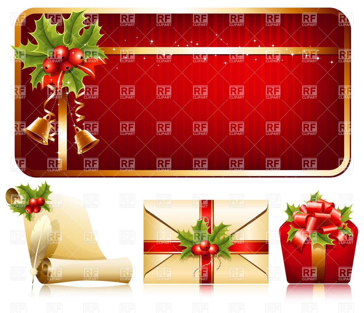Background clipart christmas decoration Christmas collection decoration and Christmas