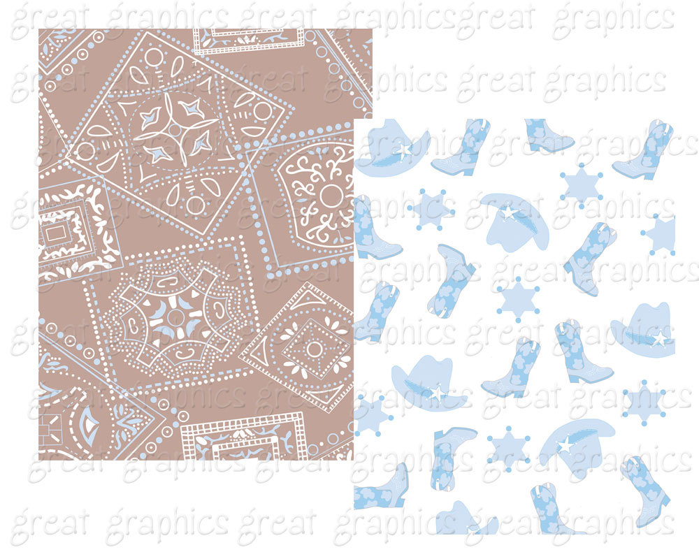 Background clipart cowboy Baby Digital Baby file Paper