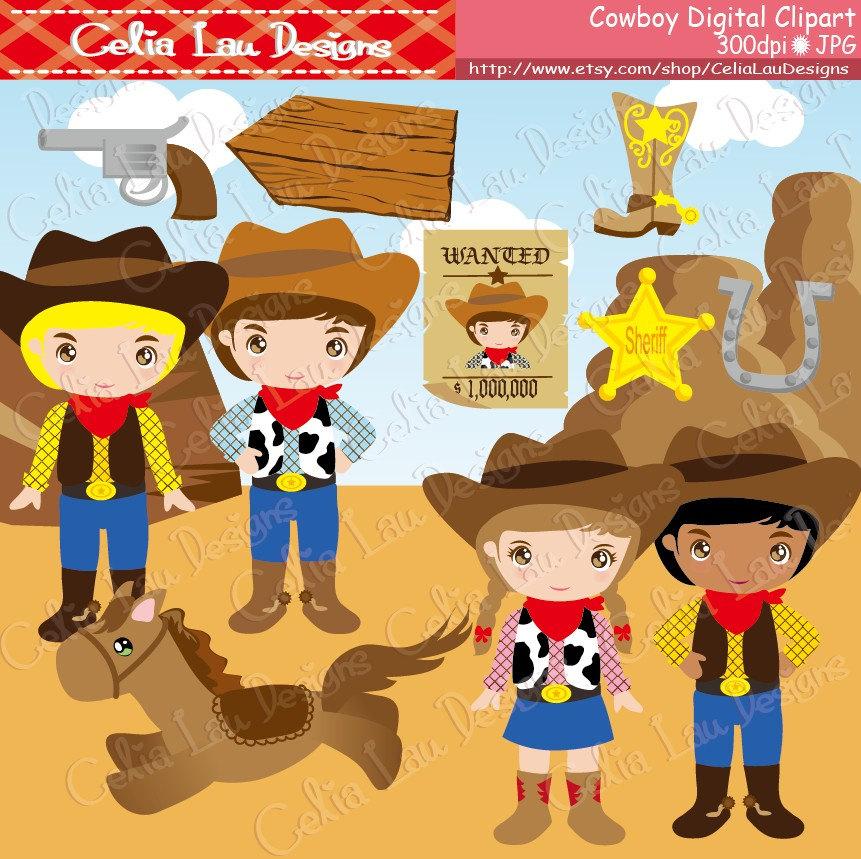 Cowboy clipart cute cowboy Cute Cowboy DOWNLOAD paper Cute