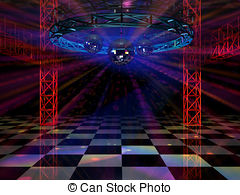Background clipart dance floor Shining mirror  with floor