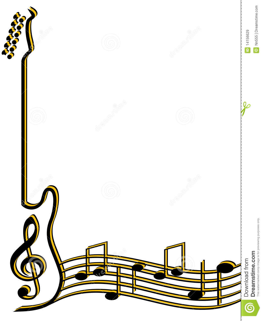 Background clipart guitar #8