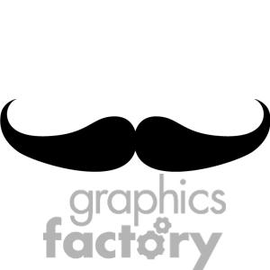 Background clipart mustache #8