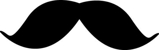 Background clipart mustache #7